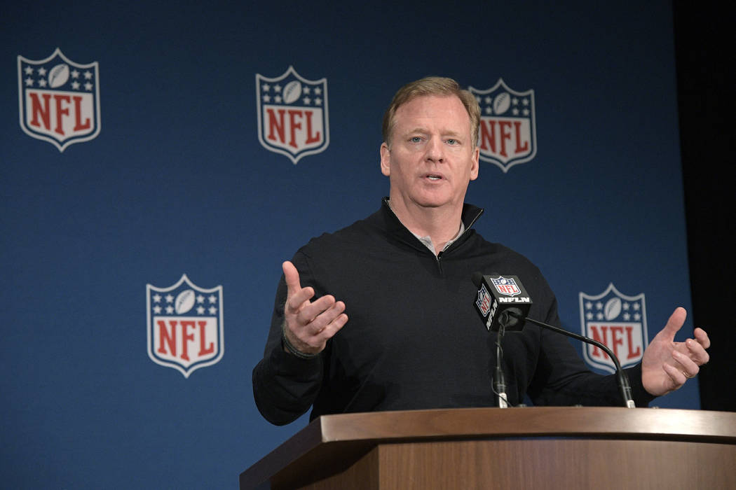 NFL Commissioner Roger Goodell details NFL's stance on sports gambling after ruling