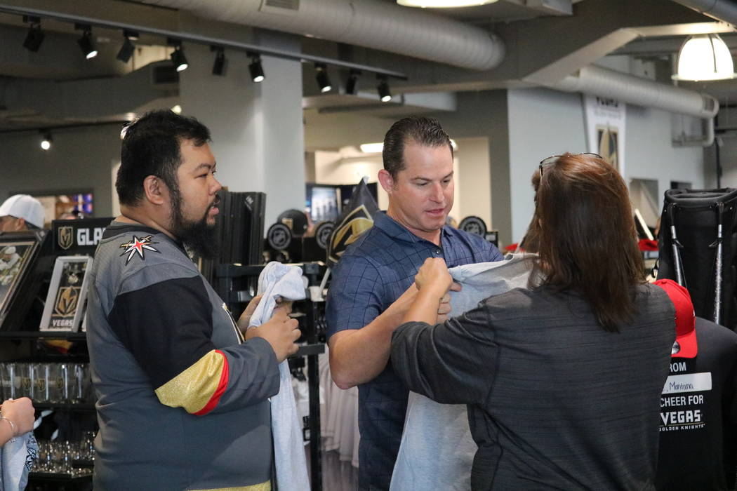 Golden Knights filed in to buy merchandise from The Arsenal Pro Shop at City National Arena in Las Vegas, Monday, May 21, 2018. Madelyn Reese/Las Vegas Review-Journal