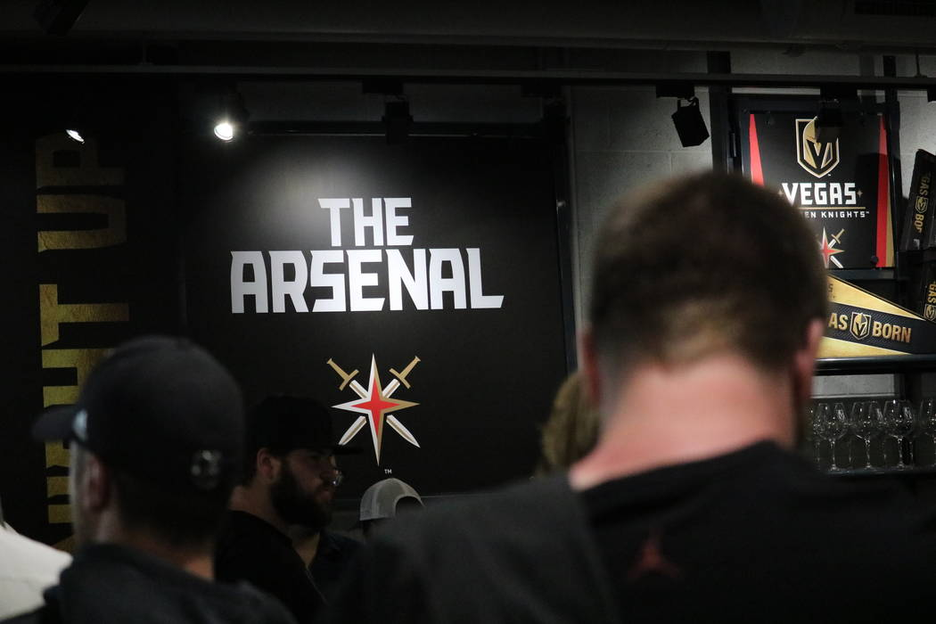 Golden Knights fans line up to buy merchandise at The Arsenal Pro Shop at City National Arena in Las Vegas, Monday, May 21, 2018. Madelyn Reese/Las Vegas Review-Journal