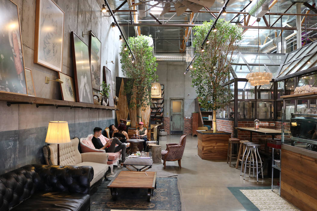 Gabi Coffee and Bakery in Las Vegas bakes specialty desserts and roasts coffee in an airy indoor atrium. Janna Karel Las Vegas Review-Journal