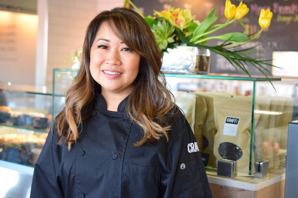 Tami Blinn, a pastry chef and co-owner of Craftkitchen, says her husband helps by tasting her confectionary creations. Craftkitchen