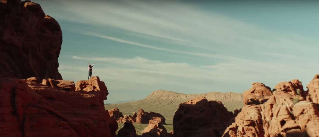 A new ad by the Las Vegas Convention and Visitors Authority features a woman enjoying some time alone.