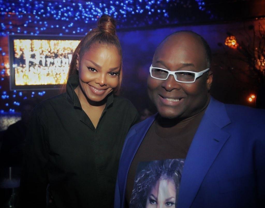 "Larry Edwards of ""Frank Marino's Divas Las Vegas"" is shown with Janet Jackson at Piranha Nighclub on Sunday, May 20, 2018. (Edison G)"