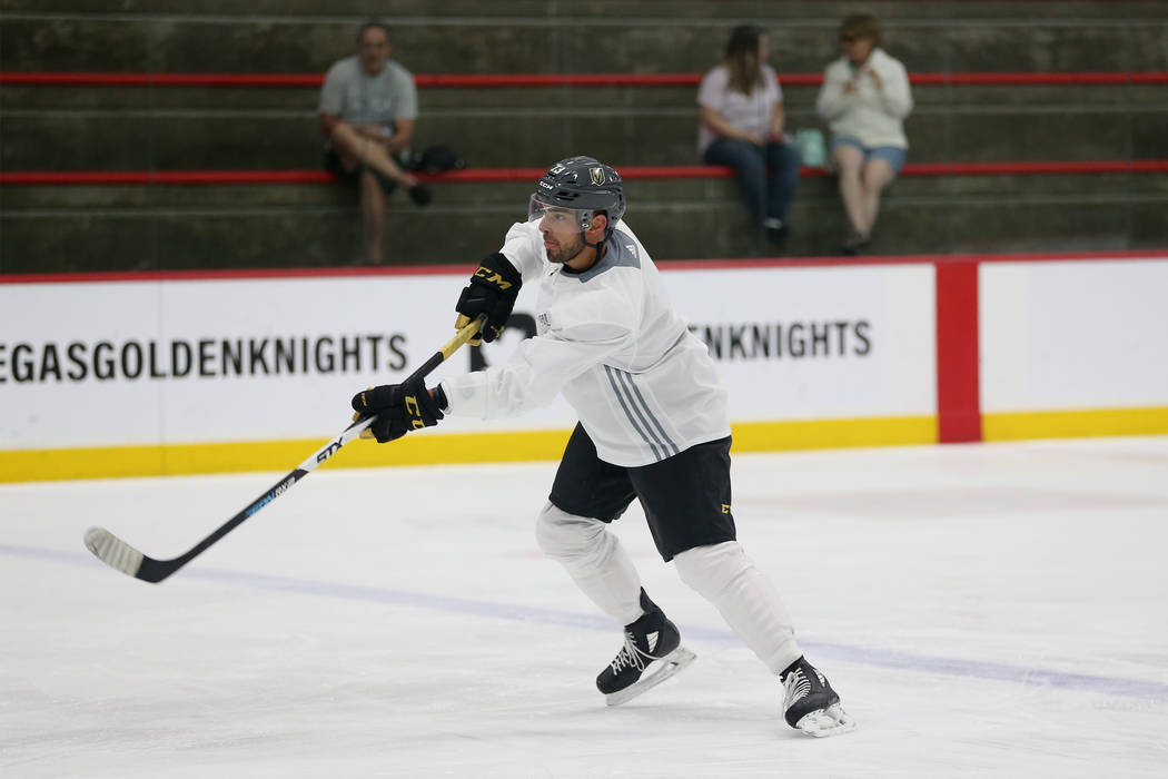 Vegas Golden Knights center Brandon Pirri (73) at City National Arena in Las Vegas, Tuesday, May 22, 2018. Erik Verduzco Las Vegas Review-Journal @Erik_Verduzco