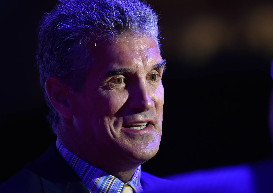 Former NFL quarterback Glenn Carano appears at the Southern Nevada Sports Hall of Fame induction event at the Orleans Arena on Friday, June 19, 2015, in Las Vegas. (Las Vegas Review-Journal)