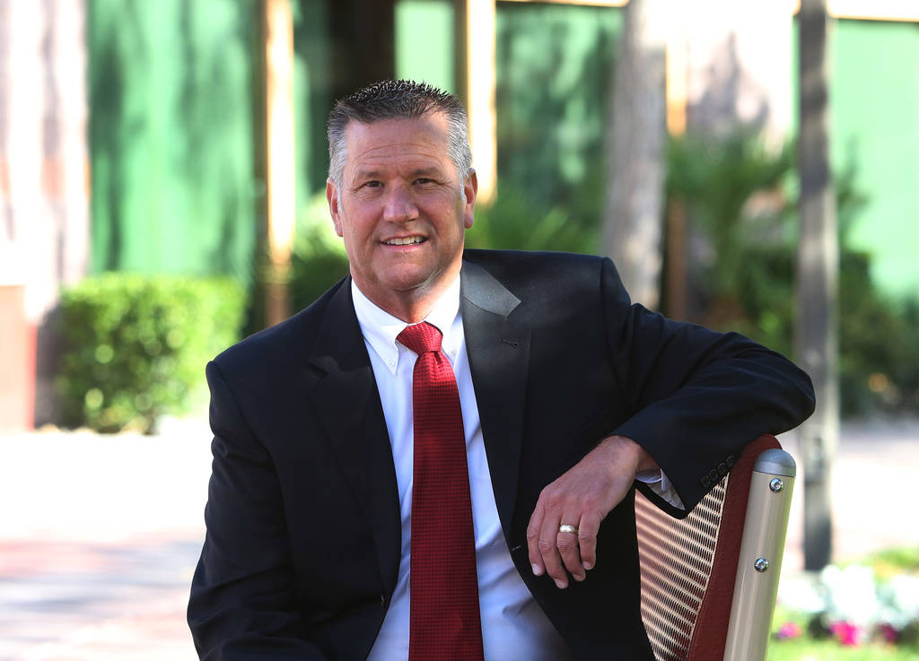 Dr. Steve Buuck, CEO and administrator of Faith Lutheran Middle and High School, poses for photo on Wednesday, May 23, 2018, in Las Vegas. Bizuayehu Tesfaye/Las Vegas Review-Journal @bizutesfaye