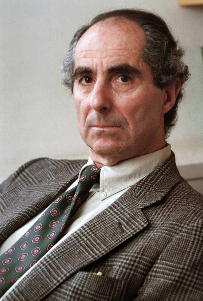 "FILE - In this March 22, 1993 file photo, American author Philip Roth is seen during an interview promoting his new book ""Operation Shylock: A Confession,"" in New York. Roth, a prize-win ..."