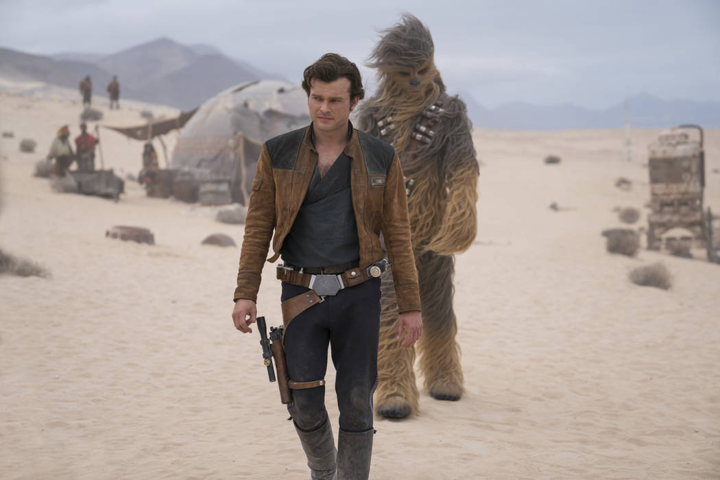 Alden Ehrenreich is Han Solo and Joonas Suotamo is Chewbacca in SOLO: A STAR WARS STORY. (Lucasfilm Ltd.)