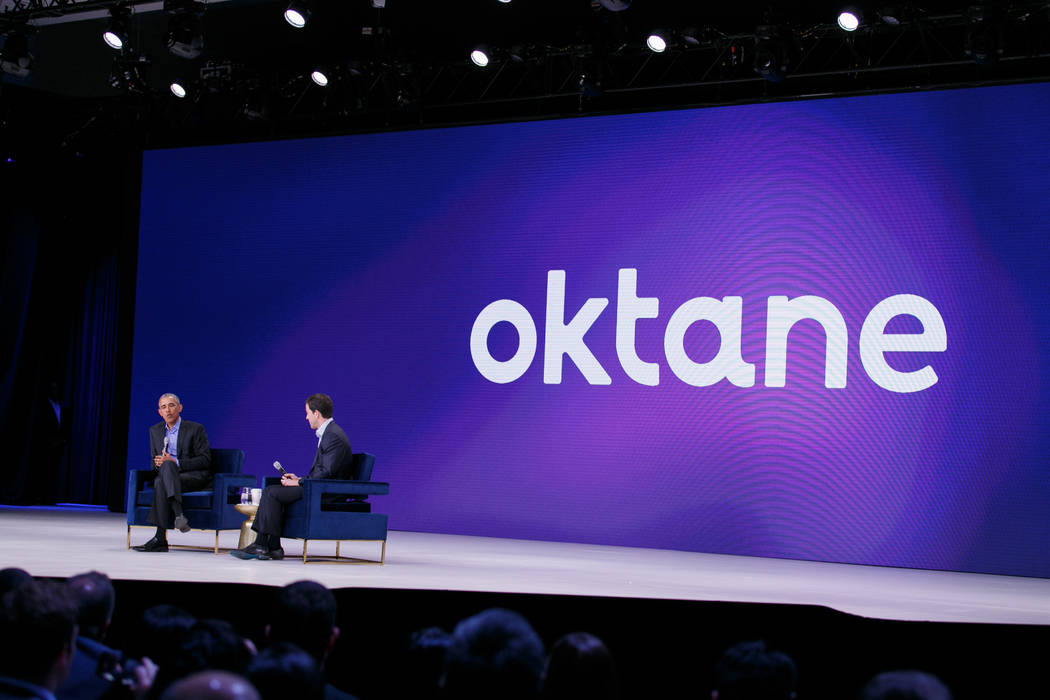 Former President Barack Obama on Wednesday delivered an hourlong keynote address at Oktane18, a three-day customer conference held by Okta, a San Francisco-based security software firm at the Aria ...