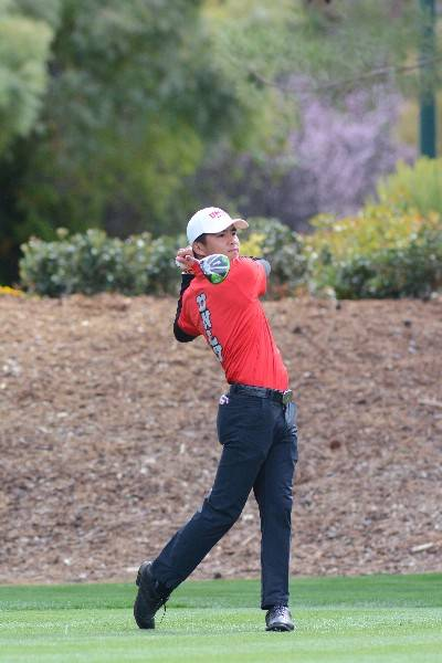 Shintaro Ban leads UNLV into the NCAA men's golf regionals. Photo courtesy of UNLV Athletics.