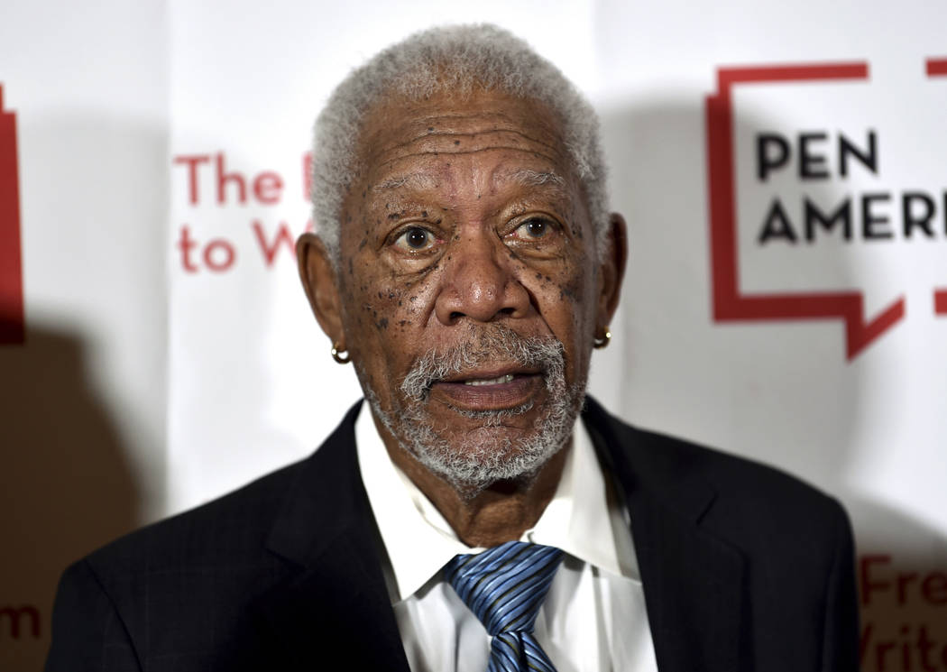 "FILE - In this May 22, 2018 file photo, actor Morgan Freeman attends the 2018 PEN Literary Gala in New York. Freeman is apologizing to anyone who may have felt ""uncomfortable or disrespecte ..."