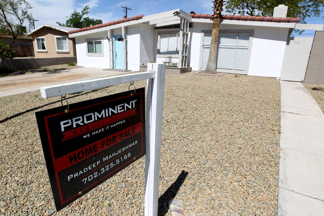 The median estimated home value in the Las Vegas area was $260,800 in April, up 16.5 percent from a year ago. (K.M. Cannon/Las Vegas Review-Journal) @KMCannonPhoto