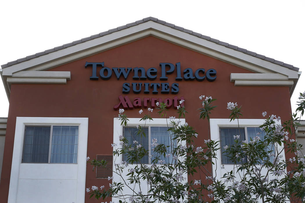The exterior of TownePlace Suites by Marriott at 1471 Paseo Verde Pkwy photographed on Friday, May 25, 2018, in Henderson. Bizuayehu Tesfaye/Las Vegas Review-Journal @bizutesfaye