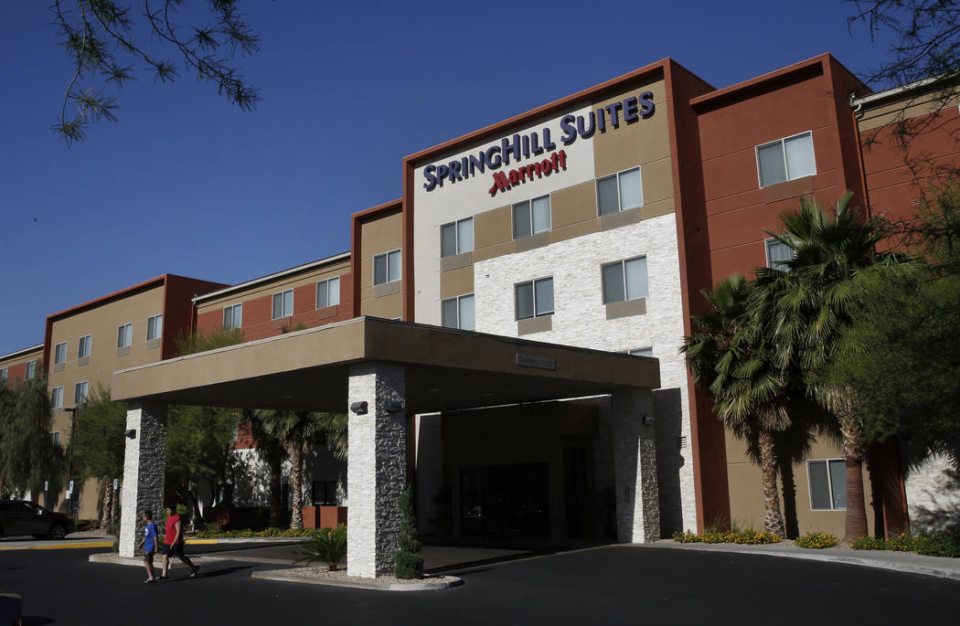 The exterior of SpringHill Suites by Marriott at 1481 Paseo Verde Pkwy photographed on Friday, May 25, 2018, in Henderson. Bizuayehu Tesfaye/Las Vegas Review-Journal @bizutesfaye