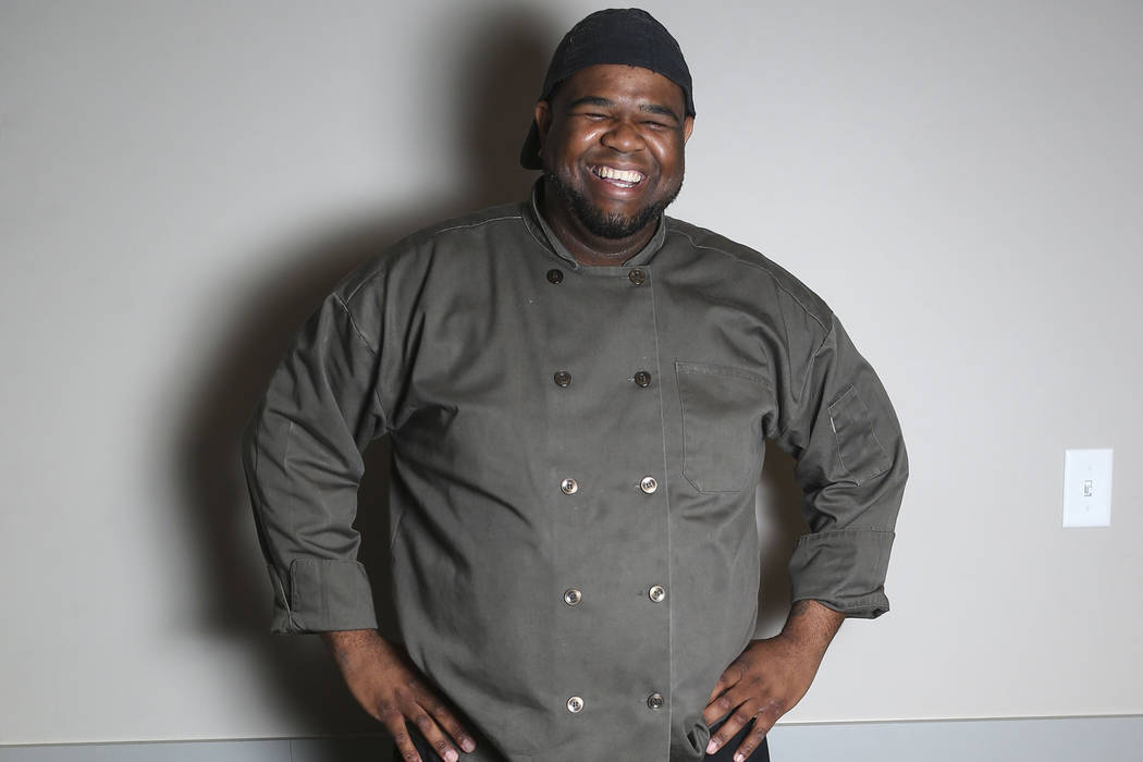 Gerald Ward, executive chef at the Blind Center of Nevada, poses for a portrait in Las Vegas on Thursday, May 24, 2018. Chase Stevens Las Vegas Review-Journal @csstevensphoto