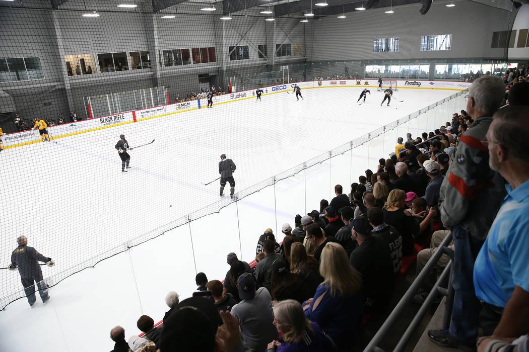 Fans attend the Vegas Golden Knights practice at City National Arena in Las Vegas, Thursday, May 24, 2018. Erik Verduzco Las Vegas Review-Journal @Erik_Verduzco