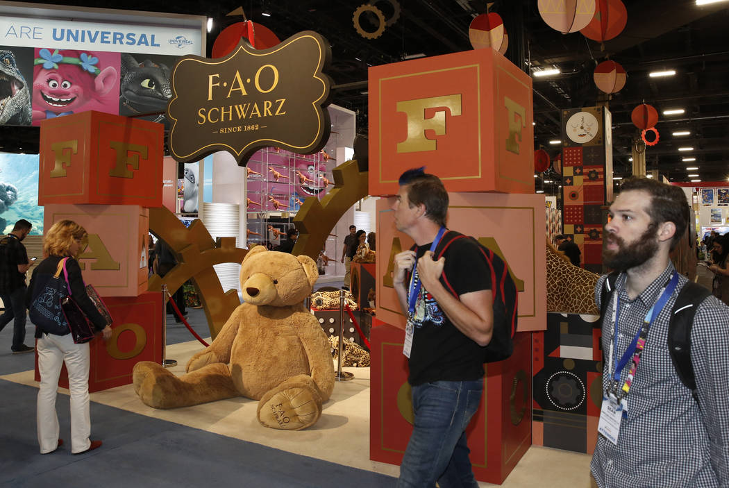 Expogoers walk past F.A.O Schwarz booth at the 2018 Licensing Expo on Tuesday, May 22, 2018, in Las Verges. Bizuayehu Tesfaye/Las Vegas Review-Journal @bizutesfaye