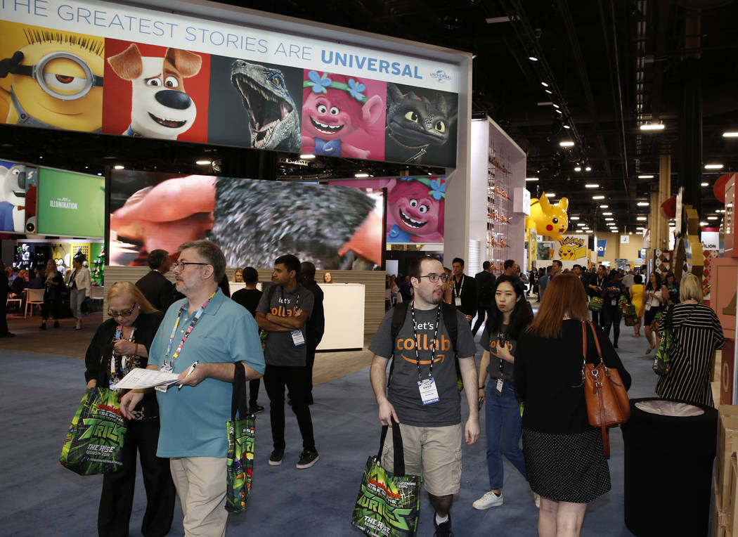 Expogoers attend the 2018 Licensing Expo on Tuesday, May 22, 2018, in Las Verges. Bizuayehu Tesfaye/Las Vegas Review-Journal @bizutesfaye