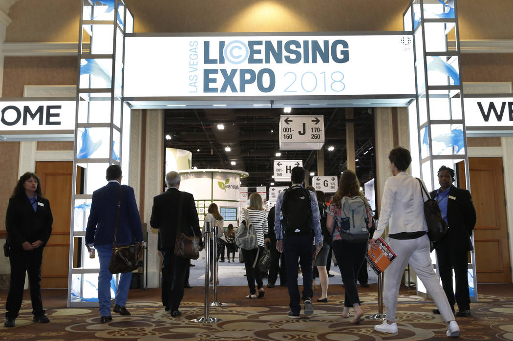 Expogoers arrive at the 2018 Licensing Expo on Tuesday, May 22, 2018, in Las Verges. Bizuayehu Tesfaye/Las Vegas Review-Journal @bizutesfaye