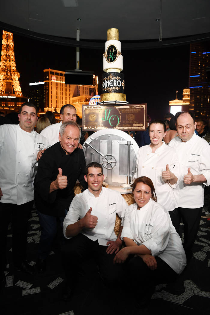 Wolfgang Puck (2nd from L) poses for a photo at Spago at Bellagio on May 20, 2018 in Las Vegas, Nevada. (Photo by Denise Truscello/Getty Images for MGM Resorts International)