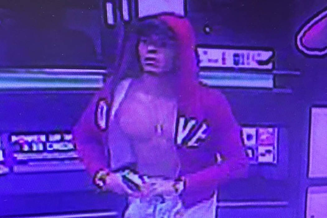 Las Vegas police are seeking help identifying a suspect in the robbery of a business on the 4000 block of Spring Mountain Road. (Las Vegas Metropolitan Police Department)