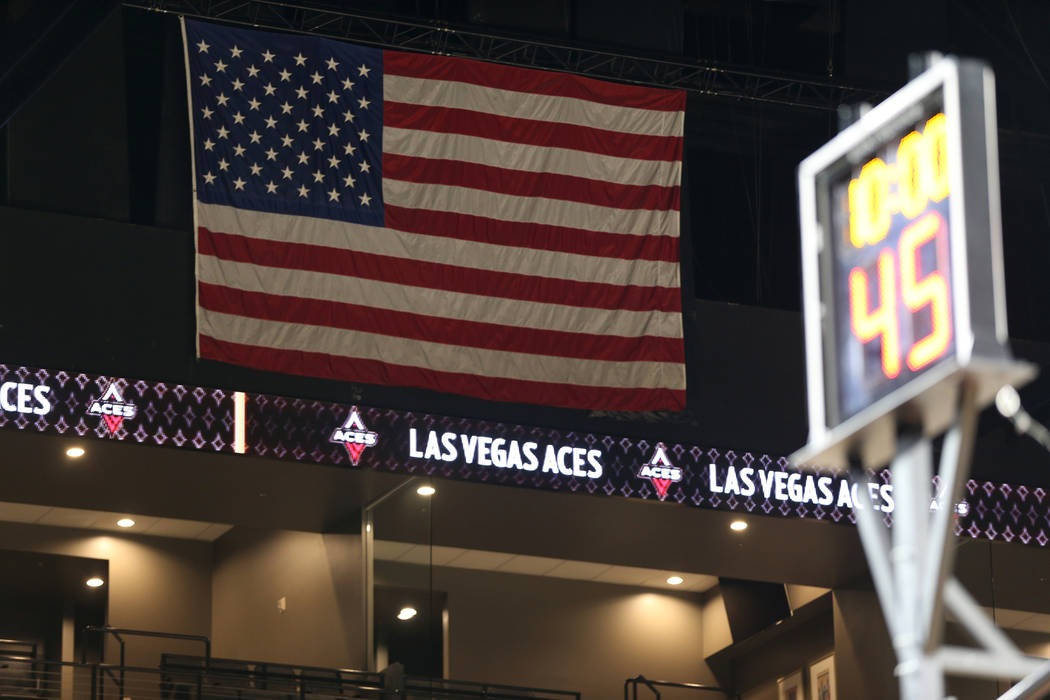 The Mandalay Bay Events Center during a Las Vegas Aces practice in Las Vegas, Friday, May 25, 2018. Erik Verduzco Las Vegas Review-Journal @Erik_Verduzco