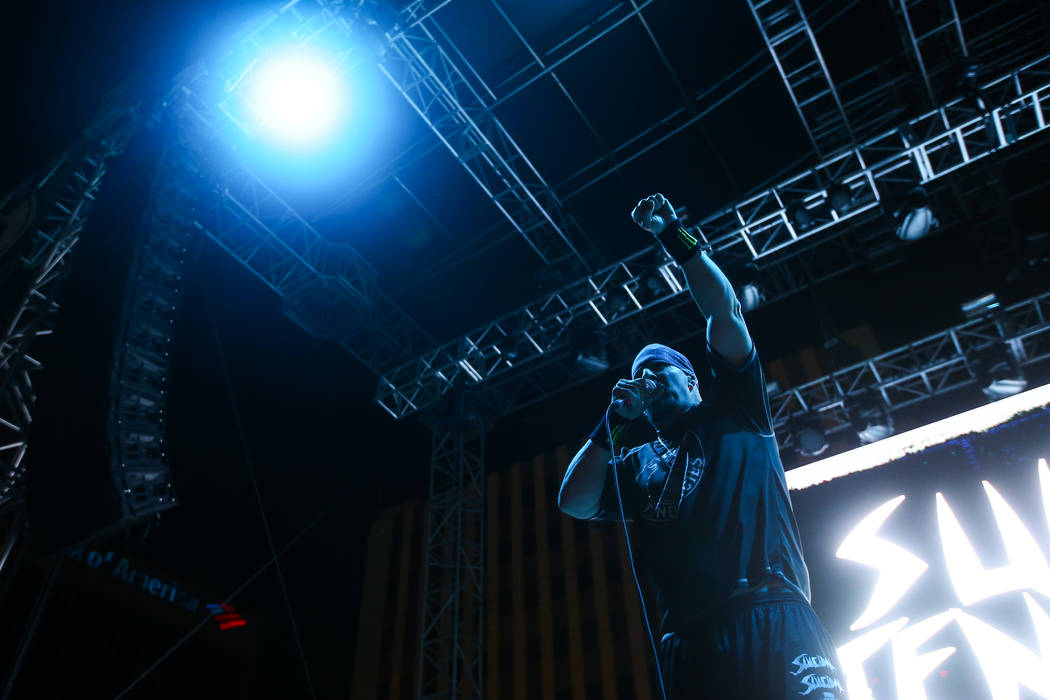 Mike Muir of Suicidal Tendencies performs during the first day of the Punk Rock Bowling music festival in downtown Las Vegas on Saturday, May 26, 2018. Chase Stevens Las Vegas Review-Journal @csst ...