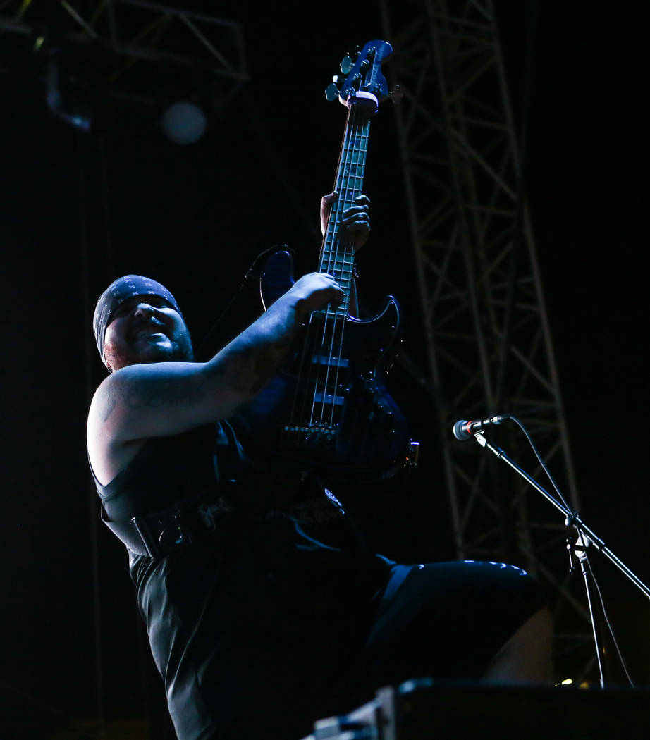 Ra Diaz of Suicidal Tendencies performs during the first day of the Punk Rock Bowling music festival in downtown Las Vegas on Saturday, May 26, 2018. Chase Stevens Las Vegas Review-Journal @csstev ...