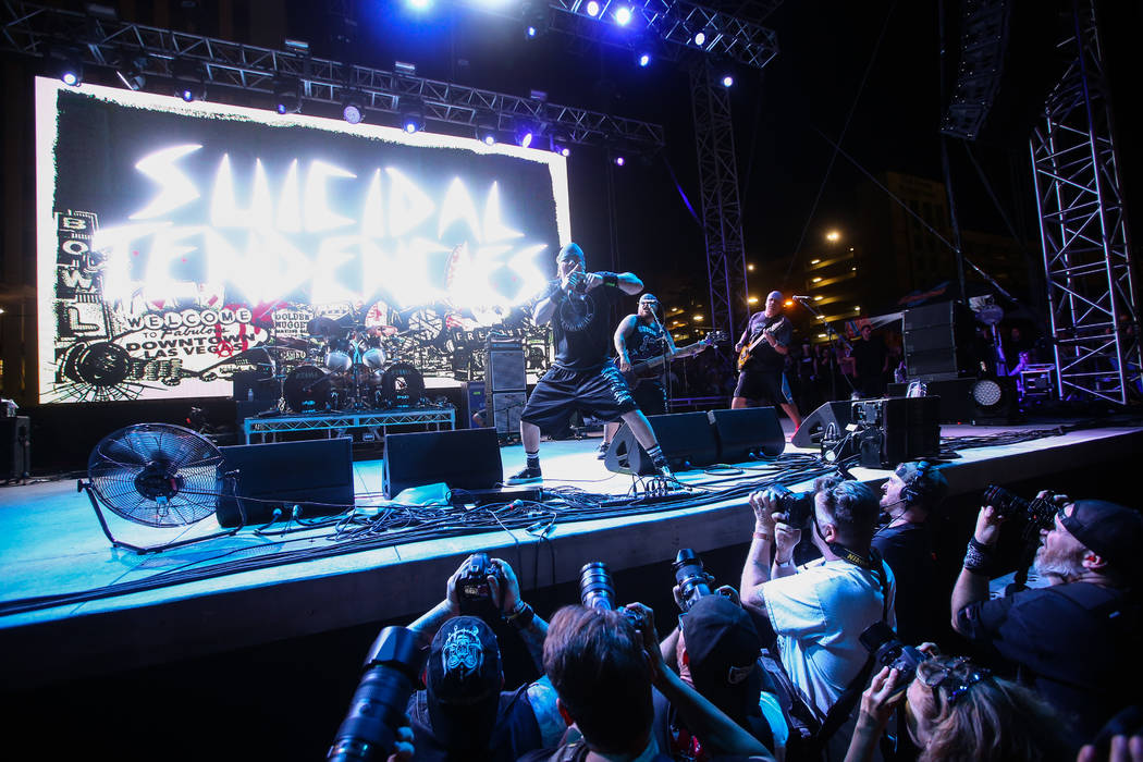 Suicidal Tendencies performs during the first day of the Punk Rock Bowling music festival in downtown Las Vegas on Saturday, May 26, 2018. Chase Stevens Las Vegas Review-Journal @csstevensphoto