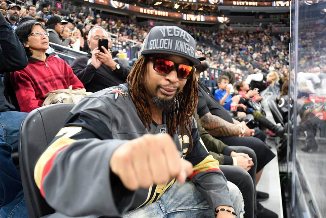 Lil Jon, the Grammy Award-winning rap star, is a Golden Knights fans. (Vegas Golden Knights/Twitter)