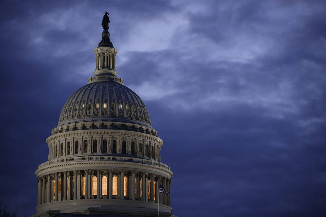 The Capitol Dome is seen at dawn in Washington. (AP Photo/J. Scott Applewhite)