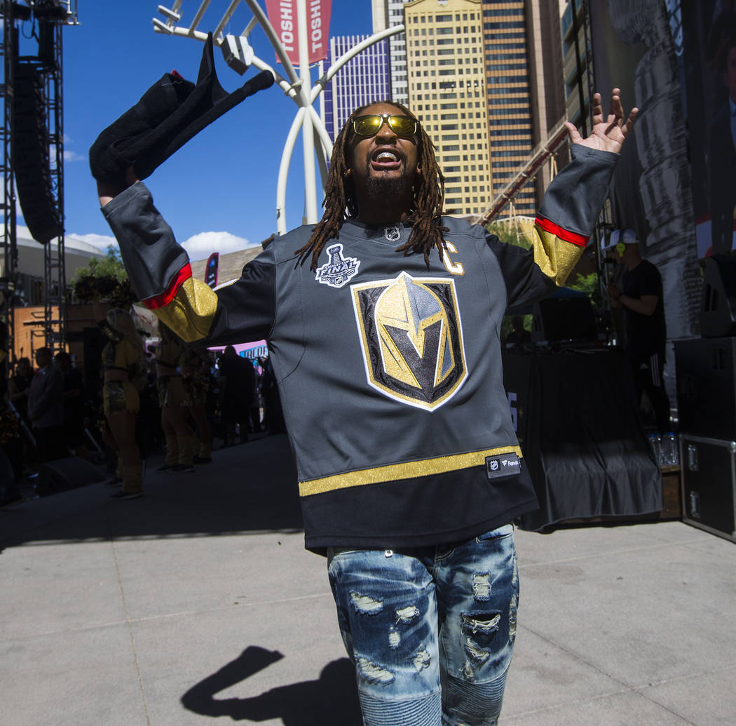 Lil Jon poses while performing during a concert ahead of Game 1 of the NHL hockey Stanley Cup Final at the T-Mobile Arena in Las Vegas on Monday, May 28, 2018. Chase Stevens Las Vegas Review-Journ ...