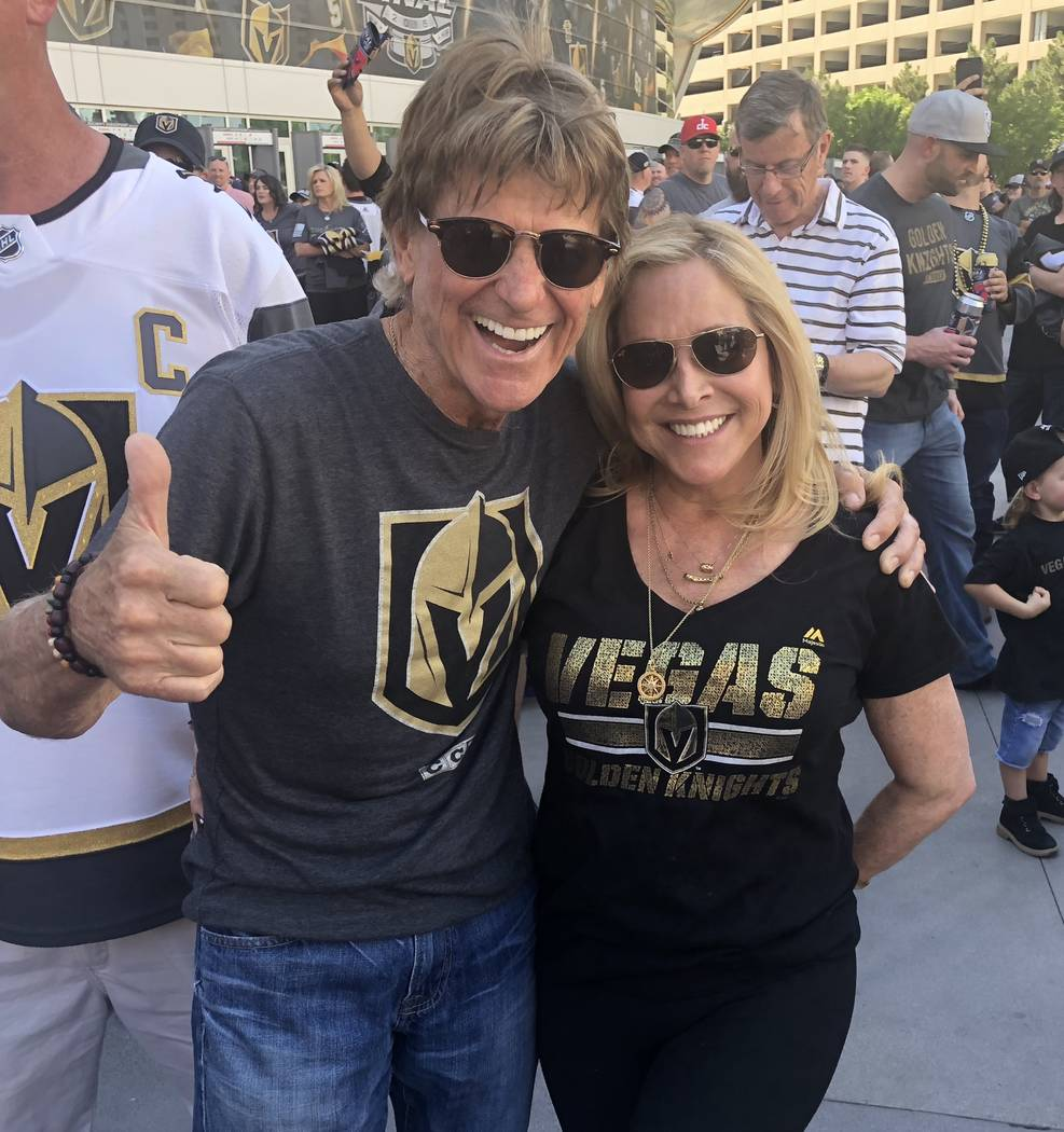 Tommy and Donna Rocker are shown at T-Mobile Arena before Game 1 of the Stanley Cup Final between the Golden Knights and Washington Capitals on Monday, May 28, 2018. (John Katsilometes/Las Vegas R ...