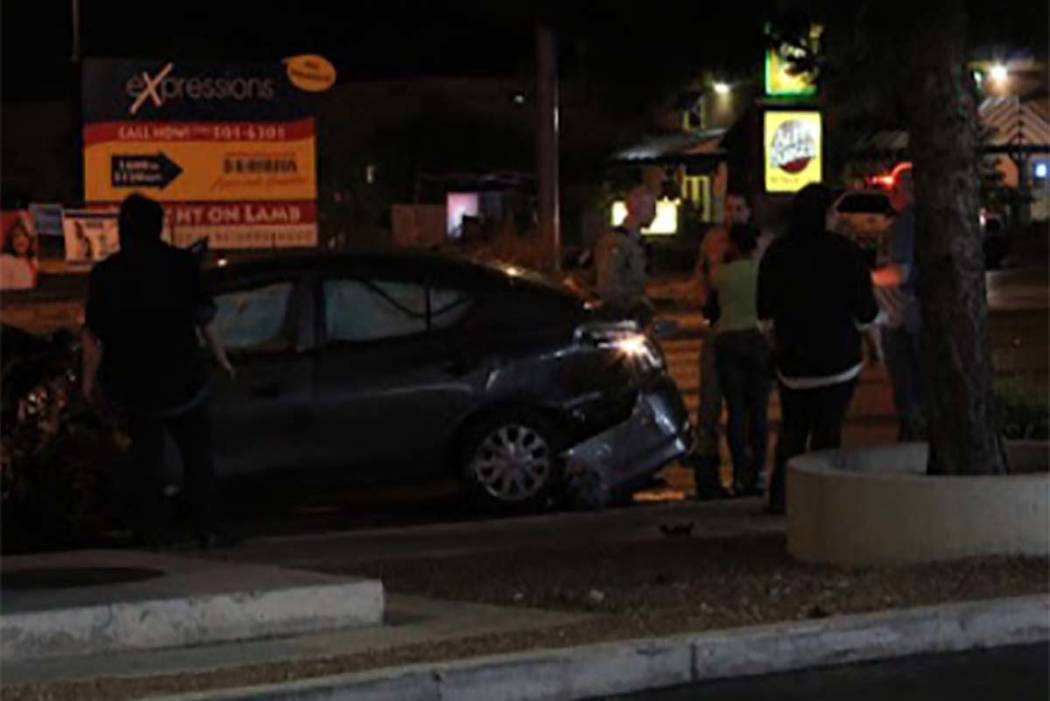 Serious injuries were avoided Monday, May 28, 2018, in a two-vehicle crash in northeast Las Vegas. (Max MIchor/Las Vegas Review-Journal)