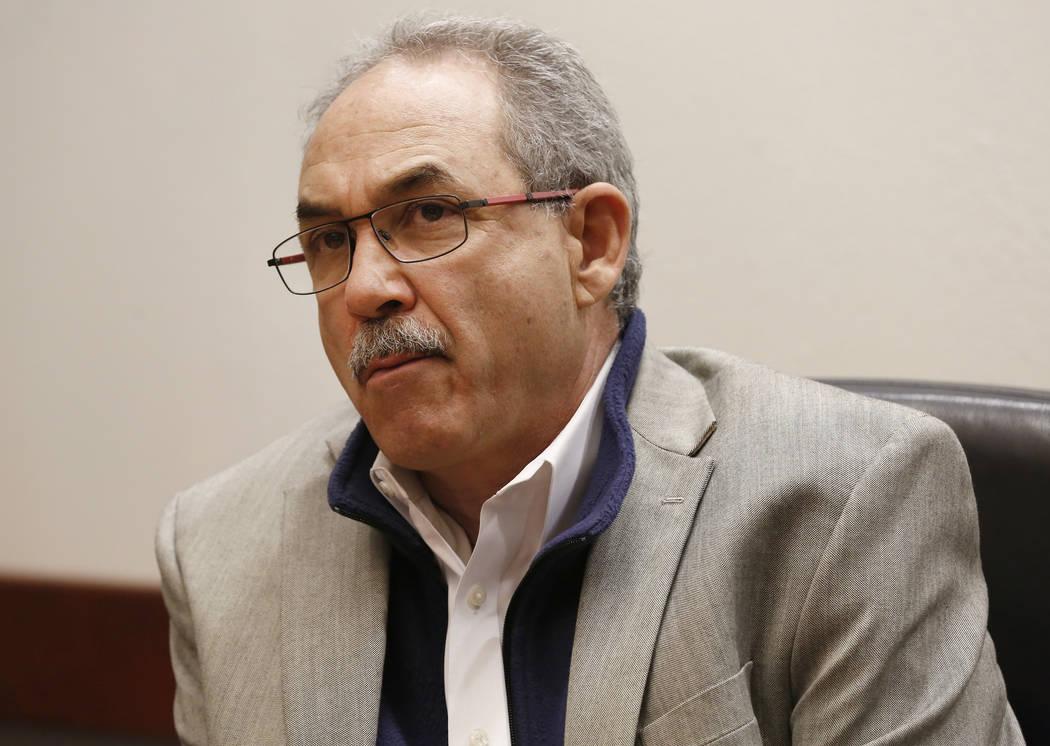 John Vellardita, Clark County Education Association executive director, during an editorial board meeting on Wednesday, Dec. 14, 2016 in Las Vegas. (David Guzman/Las Vegas Review-Journal)