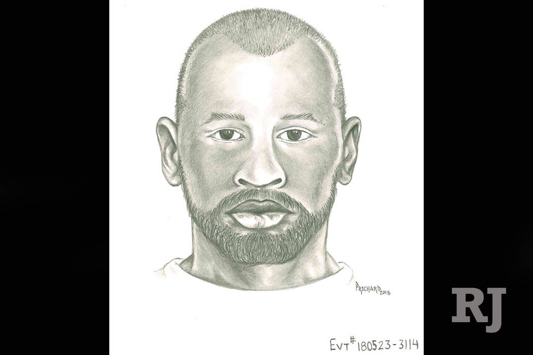 Sketch of the man suspected of sexually assaulting an 11-year-old girl at gunpoint. (Las Vegas Metropolitan Police Department)