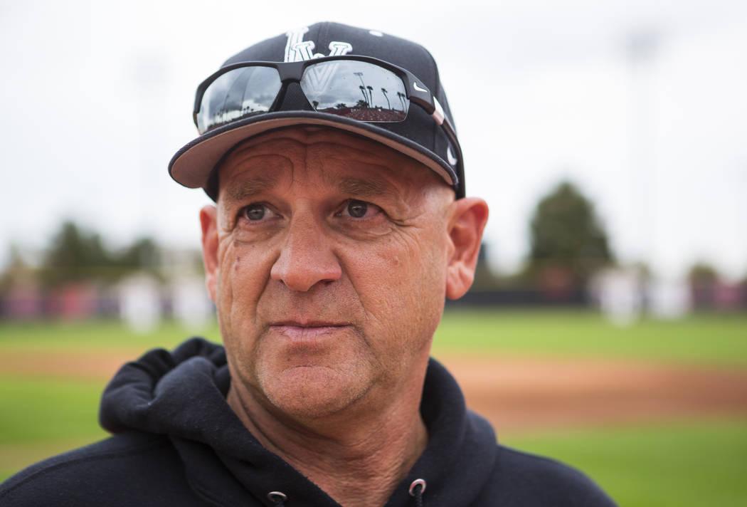 UNLV baseball coach Stan Stolte at Earl E. Wilson Stadium at UNLV in Las Vegas on Wednesday, March 21, 2018. Chase Stevens Las Vegas Review-Journal @csstevensphoto