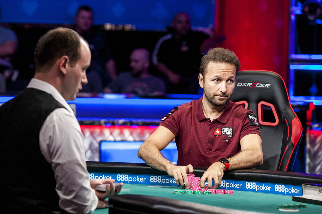 Daniel Negreanu competes against Abe Mosseri in the $10,000 Omaha Hi-Lo 8 or Better at the World Series of Poker on Wednesday, June 7, 2017. Patrick Connolly Las Vegas Review-Journal @PConnPie