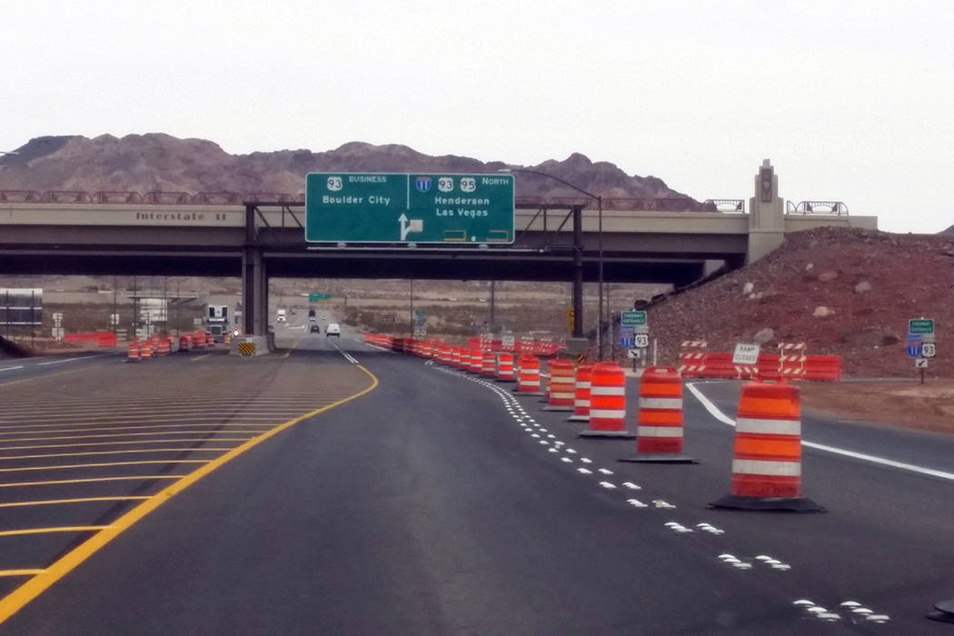 The I-11 and U.S 95 interchange (Celia Shortt Goodyear/Boulder City Review)