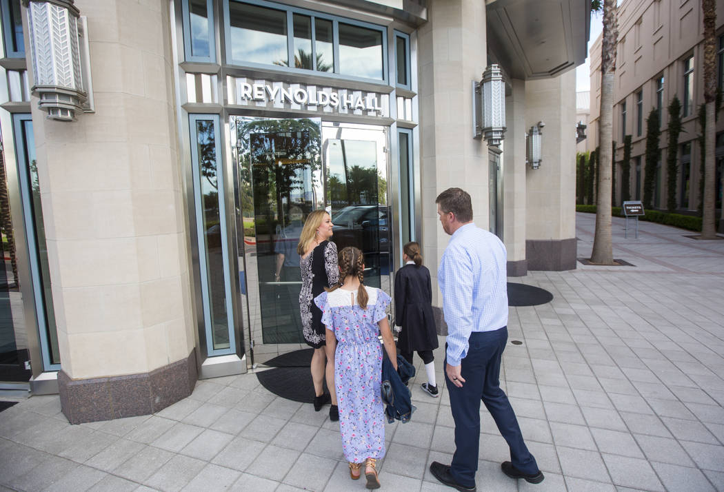 """The Houston family of Reno arrives for the opening night of """"Hamilton"""" at Reynolds Hall at The Smith Center in Las Vegas on Tuesday, May 29, 2018. Chase Stevens Las Vegas Review-Journal ..."""