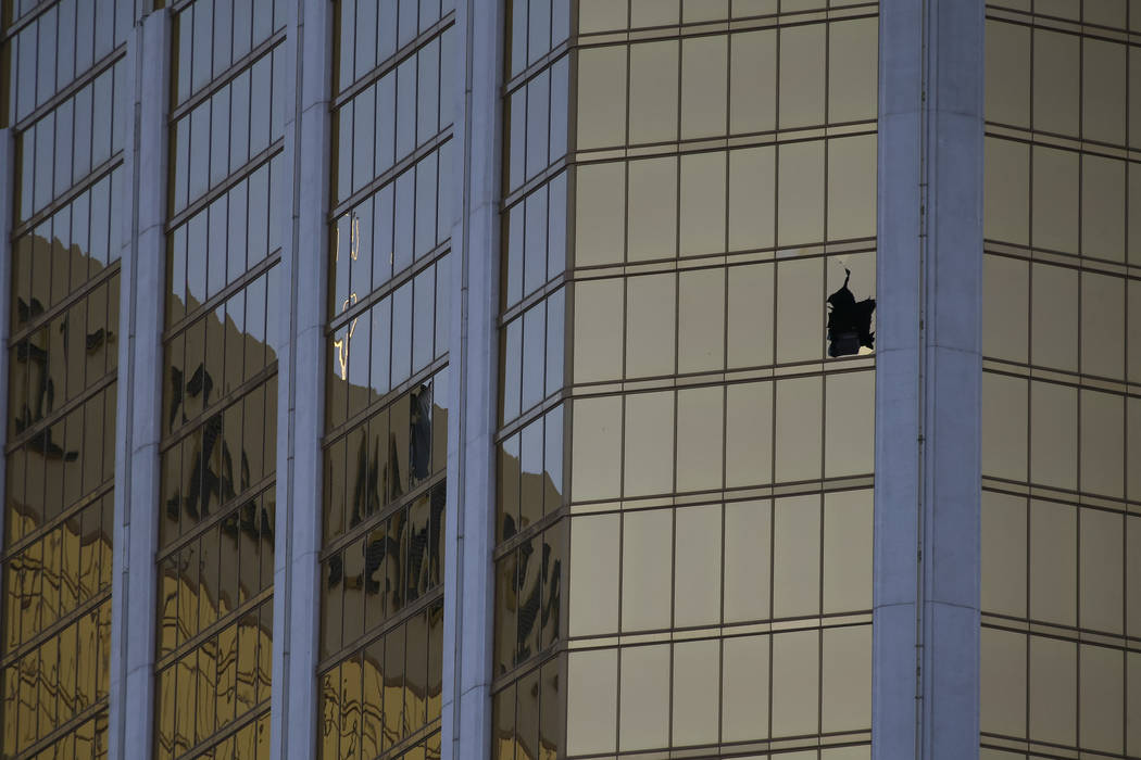 A scene from Oct. 2, 2017, the day after the Route 91 Harvest festival shooting in Las Vegas. Richard Brian/Las Vegas Review-Journal)