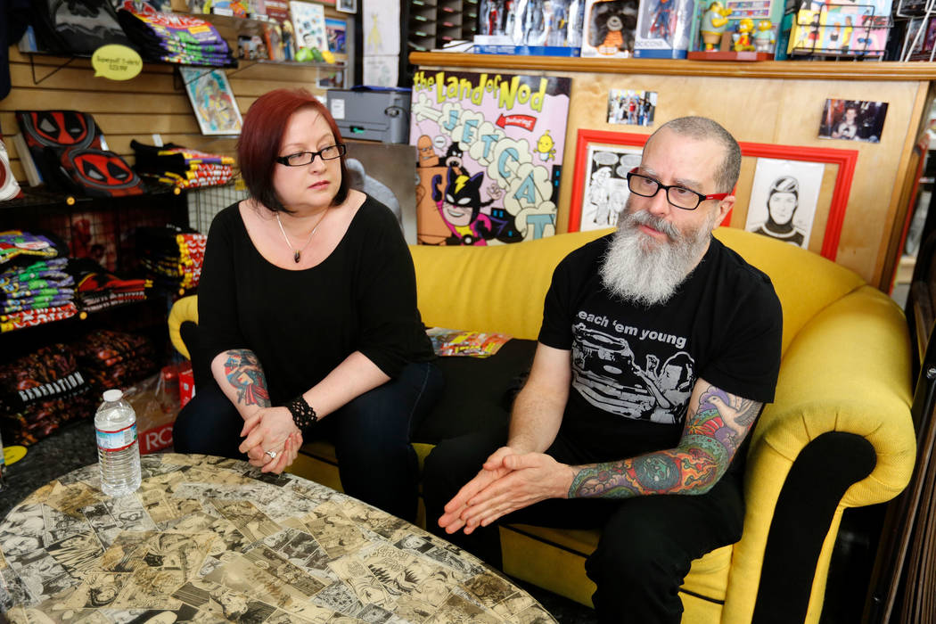 """J.H. Williams III, a comic artist, and his wife and manager Wendy Wright-Williams speak about their project, """"Where We Live,"""" a comic anthology, to the Review-Journal at Alternate Real ..."""