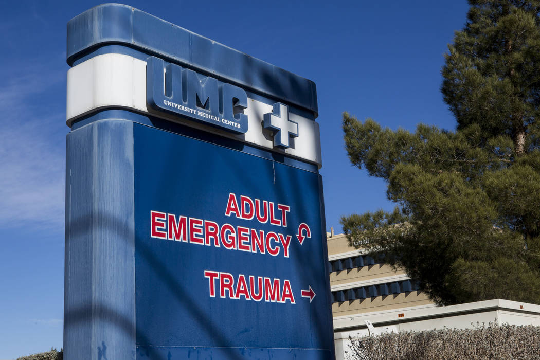 The UMC Trauma Center, Nevada's only level 1 trauma center, in Las Vegas on Thursday, Jan. 25, 2018. (Las Vegas Review-Journal)