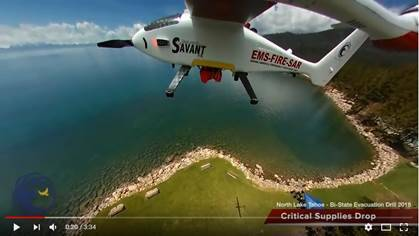 Drone America VTOL Savant Over the operations area at an altitude of 8,200 feet. Drone America