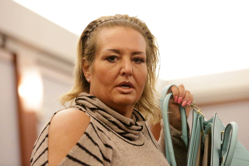 Suspended lawyer, Vicki Greco, who was charged in a scheme to file forged court documents involving prostitutes, appears in court on Wednesday, May 30, 2018. Michael Quine Las Vegas Review-Journal ...