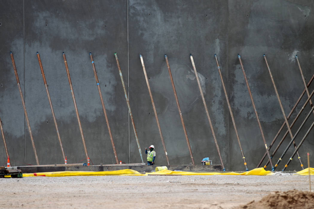 The construction site of the Maya Entertainment Center in North Las Vegas, Thursday, May 31, 2018. Erik Verduzco Las Vegas Review-Journal @Erik_Verduzco