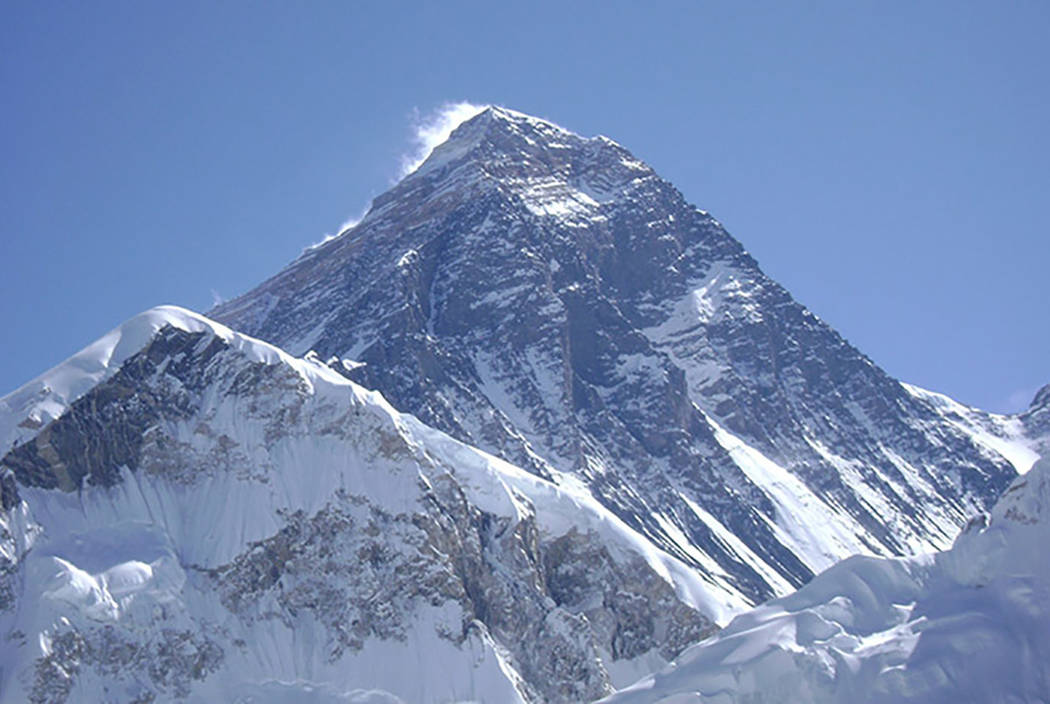 Mount Everest, the Earth's highest mountain, rises 29,029 feet. (courtesy)