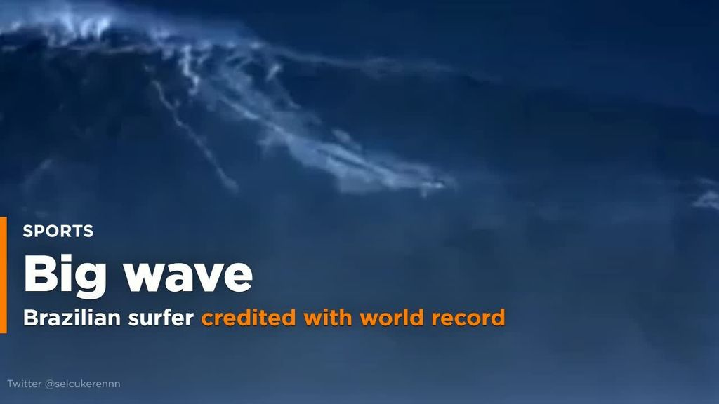 Brazilian man rides monster 80-foot wave into record book ...