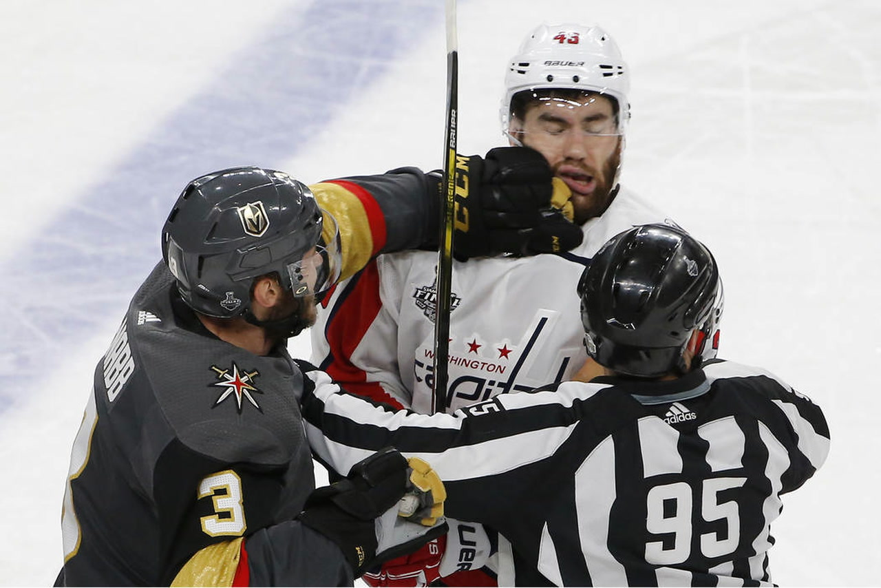 Tom Wilson s controversial hit wakes up Golden Knights  735a17c63fb0