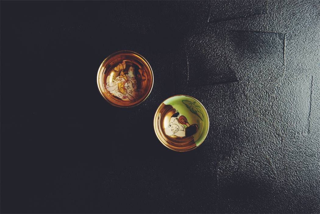 Two of the many dishes Hari has on hand for plating its sushi kaiseki courses.